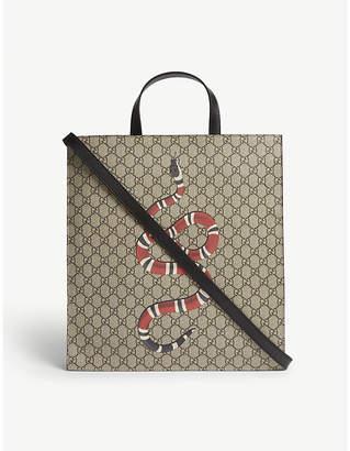 Gucci Kingsnake soft GG supreme tote bag