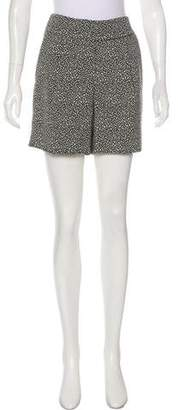 Lela Rose Jacquard High-Rise Shorts