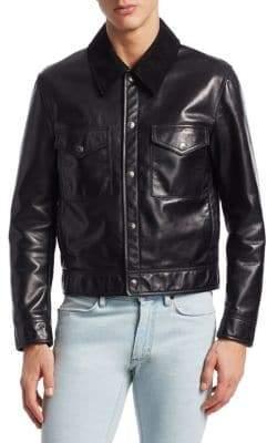 Acne Studios Leather Trucker Jacket