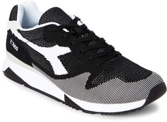 Diadora Black & White V7000 Weave Jogger Sneakers
