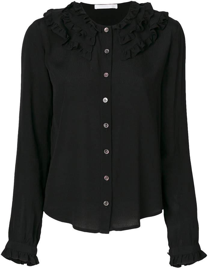 Peter Jensen buttoned detail frill shirt