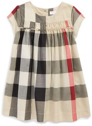Infant Girl's Burberry 'Ariadne' Check Woven Dress $185 thestylecure.com