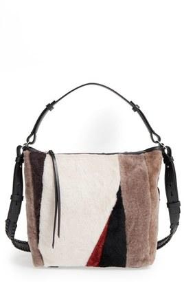 ALLSAINTS 'Kita' Genuine Shearling Shoulder Bag $348 thestylecure.com