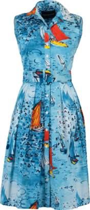 Samantha Sung Dufy Boat Printed Dress