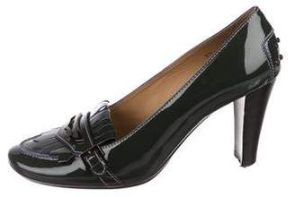 Tod's Patent Leather Kiltie Pumps
