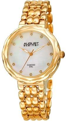 August Steiner AS8248 Gold Tone Dress Quartz Watch With Alloy Strap [AS8248YG]