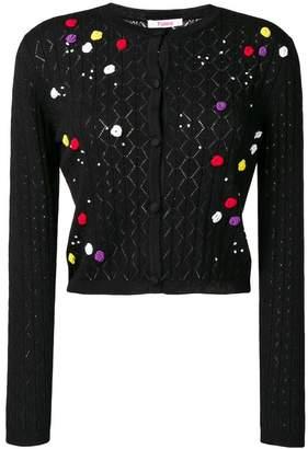 Blugirl rosebud crochet cardigan