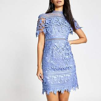 River Island Chi Chi London blue lace Willow dress