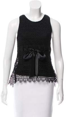 Valentino Sleeveless Crochet Lace Top