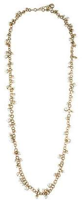 Christian Dior Mise en Faux Pearl Necklace