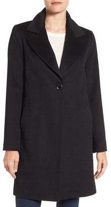 Women's Fleurette Loro Piana Wool One-Button Coat $895 thestylecure.com