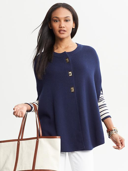 Banana Republic Turnlock Sweater Cape