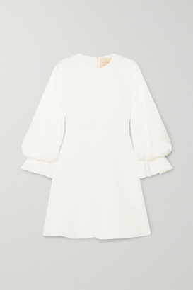 Roksanda Leonie Cady And Satin Mini Dress - Ivory