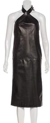 Hermes Lambskin Collier Dress