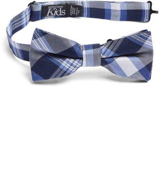Nordstrom Plaid Silk Bow Tie