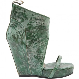 Rick Owens Green Leather Heels