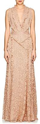 Altuzarra Women's Medina Floral-Lace Gown - Fawn