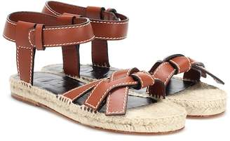Loewe Gate Flat leather sandals