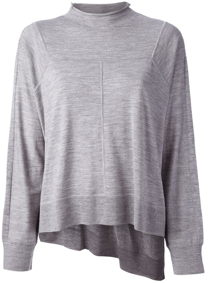 Alexander Wang asymmetric wide sweater