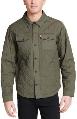 Levi's Levis Men's Diamond Quilted Cotton Shirt Jacket