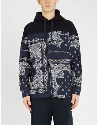 Sacai Bandana-print cotton-jersey hoody