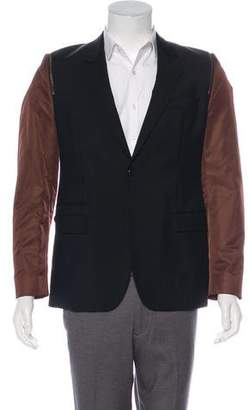Givenchy Wool Zip Accented Blazer