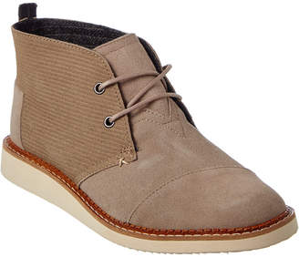 Toms Men's Mateo Embossed Suede Chukka Boot