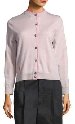 Marc Jacobs Long Sleeve Double Layer Cardigan