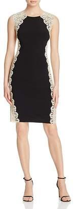 Avery G Contrast Lace Dress