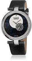 Burgi ダイヤモンド付きブラックストラップレディース時計bur042bk
