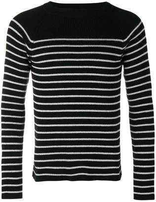 Saint Laurent striped fitted sweater