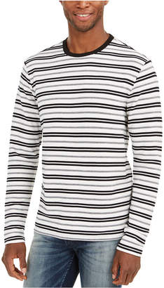 GUESS Men Striped Long-Sleeve T-Shirt