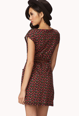 Forever 21 Floral Dress w/ Braided Belt