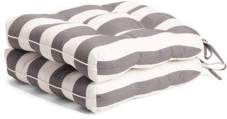 2pk Indoor Outdoor Striped Cushions