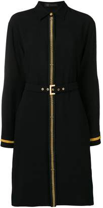 Versace Greek Key embellished shirt dress