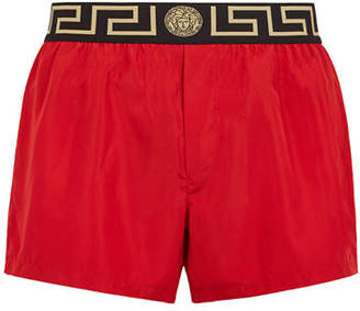Versace Men's Net Short Swim Trunks