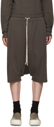 Rick Owens Drkshdw Grey Pods Shorts $450 thestylecure.com