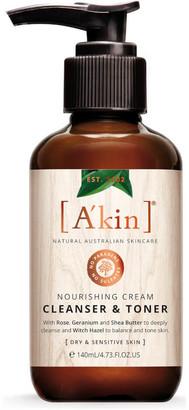 Akin A'kin Nourishing Cream Cleanser & Toner 140ml
