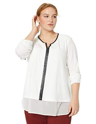 Calvin Klein Women's Plus Size 2-FER with PU Trim