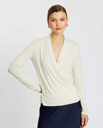 Banana Republic Threadsoft Wrap Top