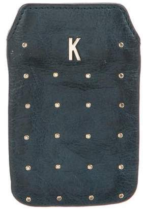 Rebecca Minkoff Embellished Leather Phone Case