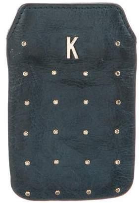 Rebecca Minkoff Embellished Leather Phone Case