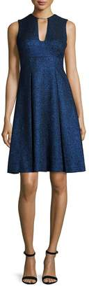 Lela Rose V-Neck Dress