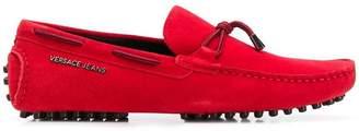 Versace tie front loafers