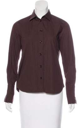 Emporio Armani Collared Button-Up Top