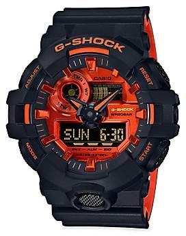G-Shock Analog& Digital Black Resin Strap Watch