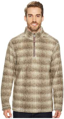 True Grit Melange Blanket Plaid 1/4 Zip Pullover Men's Clothing