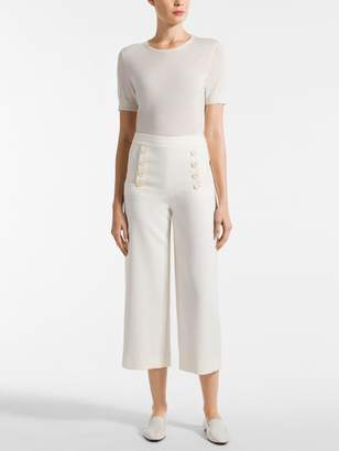 St. John Bella Double Weave Cropped Pant