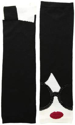 Alice + Olivia Loe Stace Face Long Fingerless Gloves Extreme Cold Weather Gloves
