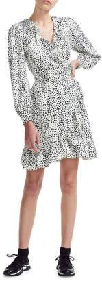Maje Preco Rosana Animal-Print Wrap Dress